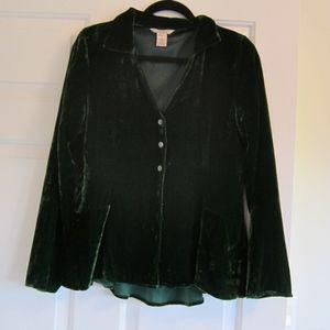 Sundance rayon silk velvet blouse